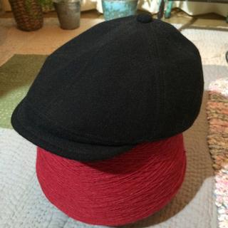 ムジルシリョウヒン(MUJI (無印良品))の無印良品 黒 ハンチング 帽子(ハンチング/ベレー帽)