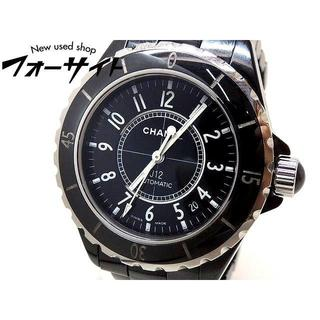 シャネル(CHANEL)のシャネル■H0685 J12 38mm セラミック ブラック 自動巻き メンズ (腕時計(アナログ))