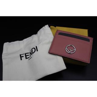 フェンディ(FENDI)の極美品 確実正規品 フェンディ カードケース ピンク(名刺入れ/定期入れ)