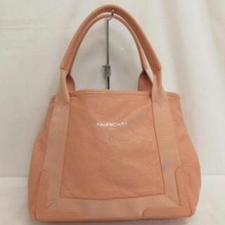 バレンシアガバッグ(BALENCIAGA BAG)の正規店購入 バレンシアガ ネービー カバス ピンク レザー ハンドバッグ(ハンドバッグ)
