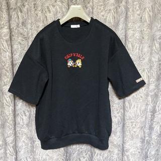 チップアンドデール(チップ&デール)のDisneyチップ&デール刺繍半袖スウェットカットソー(Tシャツ/カットソー(半袖/袖なし))