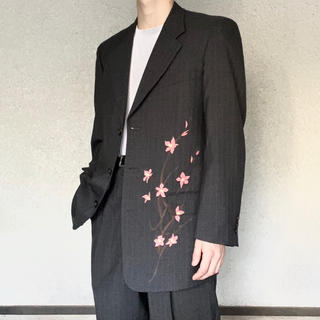 COMME des GARCONS - 古着 桜 ペイント グレー セットアップ