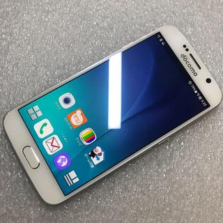 ギャラクシー(Galaxy)の ドコモ SAMSUNG GALAXY S6 SC-05G ホワイト ジャンク(スマートフォン本体)