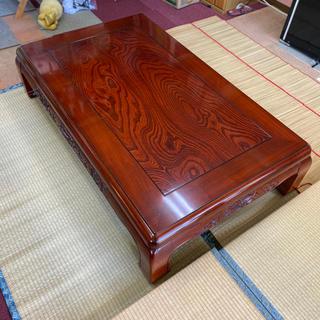 ★最終値下げ★猫脚座卓 獅子彫り 和式座卓 日本製(ローテーブル)