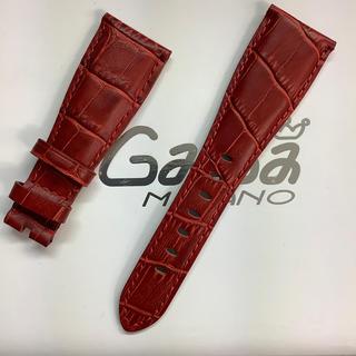 ガガミラノ(GaGa MILANO)の新品 GaGa MILANO ガガミラノバンド 交換 48ミリ用レザーベルト赤(レザーベルト)