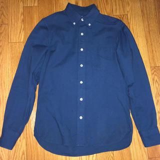 ムジルシリョウヒン(MUJI (無印良品))の無印良品 オックスフォード ボタンダウン シャツ 紺 ネイビー XS(シャツ)