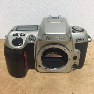 ニコン(Nikon)のNIKON F60 シルバー フイルムカメラ 動作品 現状渡し(フィルムカメラ)