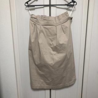 イッツインターナショナル(I.T.'S.international)のベージュ膝丈スカート(ひざ丈スカート)