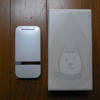 ソフトバンク(Softbank)のSoftBank 202SH Sharp 白色 動作確認程度の使用 美品(携帯電話本体)