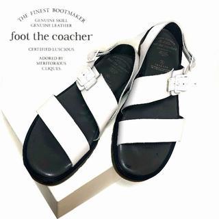 フットザコーチャー(foot the coacher)の専用 美品 フットザコーチャー 8(26cm相当)人気モデル 本革製サンダル 白(サンダル)
