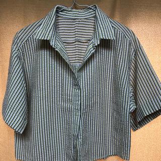 ジーユー(GU)のストライプ シャツ ブラウス(シャツ/ブラウス(半袖/袖なし))