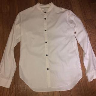 エディフィス(EDIFICE)のエディフィス バンドカラー  シャツ 白 ホワイト S(シャツ)