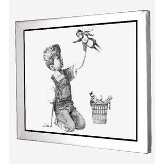135-バンクシー Banksy 新作 キャンバスアート 看護師 ヒーロー 模写(ボードキャンバス)