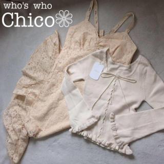 フーズフーチコ(who's who Chico)の春コーデ❁レースワンピセット(セット/コーデ)