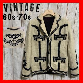 ダブルアールエル(RRL)の70s vintage ヴィンテージ ウエスタン 刺繍 テーラードジャケット(テーラードジャケット)