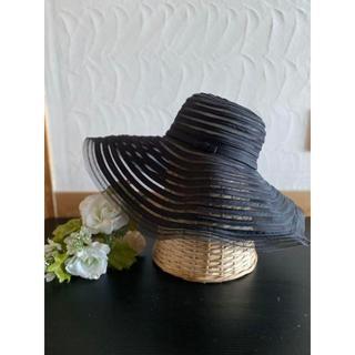アンテプリマ(ANTEPRIMA)の新品 アンテプリマ サマー ハット 女優帽 シースルー 黒(ハット)