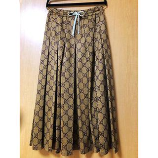 グッチ(Gucci)のGGテクニカルジャージー スカート(ロングスカート)