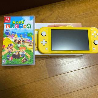 ニンテンドースイッチ(Nintendo Switch)のswitch liteニンテンドー スイッチ ライト 本体どうぶつの森セット(家庭用ゲーム機本体)