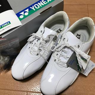ヨネックス(YONEX)のヨネックス YONEX ゴルフシューズ スニーカー 23.5cm ホワイト(シューズ)