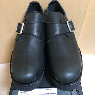 イサムカタヤマバックラッシュ(ISAMUKATAYAMA BACKLASH)の新品箱付バックラッシュJPNショルダーモンクストラップ短靴レザーシューズ黒26(ドレス/ビジネス)