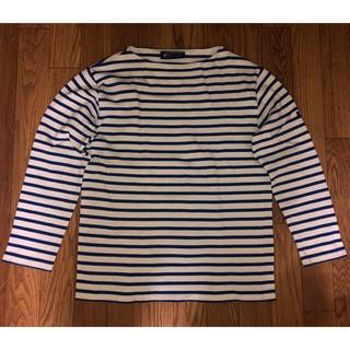 セントジェームス(SAINT JAMES)のセントジェームス ウエッソン バスクシャツ ボーダー 白 青(Tシャツ/カットソー(七分/長袖))