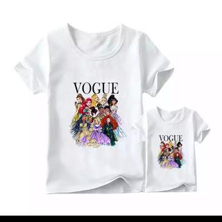 ディズニー(Disney)の親子ペア ペアルック ディズニープリンセス セット(Tシャツ/カットソー)