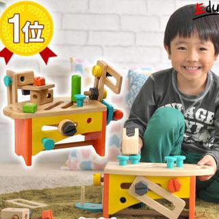 トイザラス(トイザらス)のVOILA 大工さんセット ツールボックス おもちゃ 木製 知育玩具 (知育玩具)