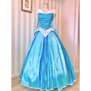ディズニー(Disney)の❁眠れる森の美女❁オーロラ風 ブルードレス衣装❁新品(ロングドレス)