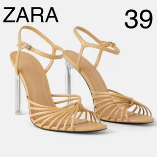 ザラ(ZARA)の新品 ZARA クリアヒールサンダル パンプス 39(サンダル)