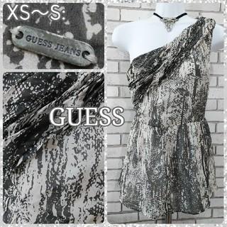 ゲス(GUESS)のXS~S: 新品 シルク チュニック/ゲス★未使用★パイソン柄(チュニック)