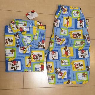 ディズニー(Disney)のディズニー ミッキー ブルー 半袖  パジャマ  上下セット  M〜L(パジャマ)