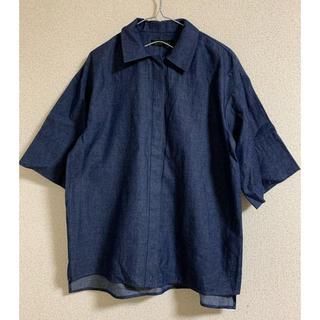 ディノス(dinos)のDAMA collection  コットンデニムシャツ L(シャツ/ブラウス(半袖/袖なし))