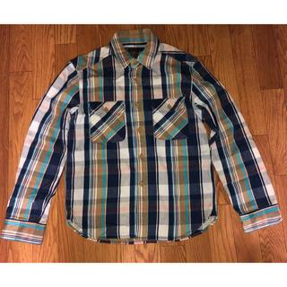 JELADO ジェラード ネルシャツ 10周年 チェック 青 ブルー S(シャツ)
