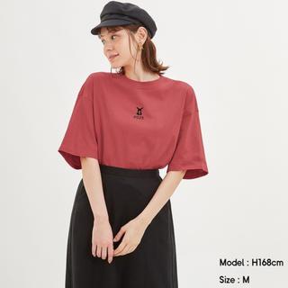 ジーユー(GU)のGU × ポケモン Tシャツ カットソー クロップドT POKEMON Lサイズ(Tシャツ(半袖/袖なし))