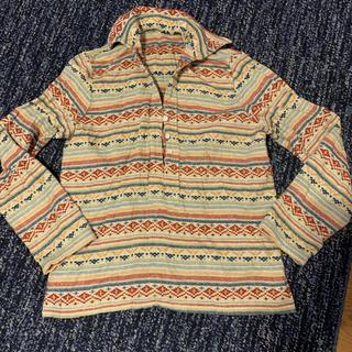 ネイティブ柄 長袖シャツ