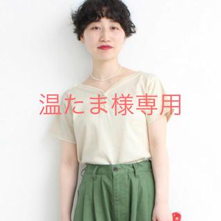 ドットアンドストライプスチャイルドウーマン(Dot&Stripes CHILDWOMAN)のchild woman バスクテレコ飾りボタン半袖プルオーバー(カットソー(半袖/袖なし))