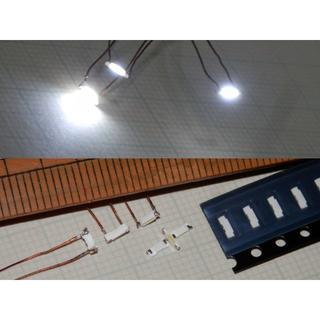 チップLED高輝度側面発光 20mA 600mcd エナメル線PEWポイント消化(その他)