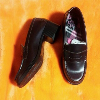 ローズファンファン(ROSE FANFAN)のヒールローファー 25.5㌢(ローファー/革靴)