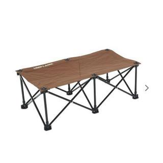 ユニフレーム(UNIFLAME)の【新品】UNIFLAME リラックスベンチ ブラウン×ブラック(テーブル/チェア)