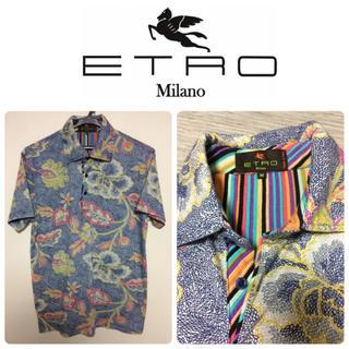 エトロ(ETRO)のETRO ペイズリー フローラル 総柄 ポロシャツ GOLF (ポロシャツ)