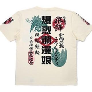 テッドマン(TEDMAN)の爆裂爛漫娘/鶴亀/Tシャツ/白/rmt-305/テッドマン/カミナリモータース(Tシャツ/カットソー(半袖/袖なし))