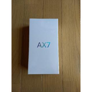 アンドロイド(ANDROID)のOPPO AX7 ブルー 64GB 新品未開封(スマートフォン本体)