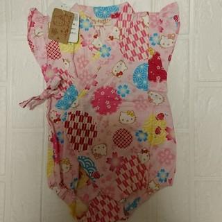 ハローキティ(ハローキティ)の甚平 ロンパース 女の子 キティちゃん 70サイズ(甚平/浴衣)