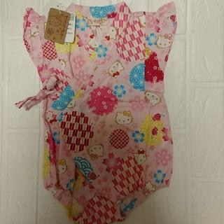 ハローキティ(ハローキティ)の甚平 ロンパース 女の子 キティちゃん 新品(甚平/浴衣)