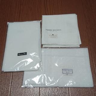 クリスチャンディオール(Christian Dior)の新品 白ハンカチ 3枚(ハンカチ/ポケットチーフ)