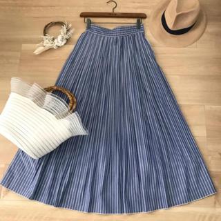 Mila Owen ミラ オーウェン*ストライプ柄ロングプリーツスカート