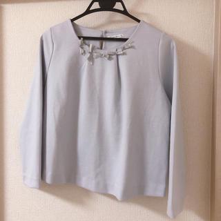 ウィルセレクション(WILLSELECTION)のリボンビジュープルオーバー(Tシャツ(長袖/七分))