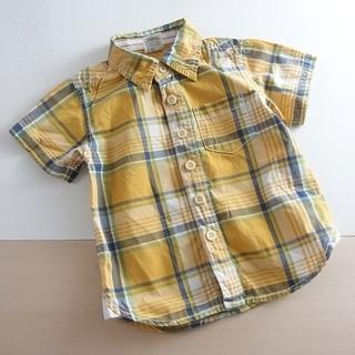 バックナンバー(BACK NUMBER)のキッズ 春夏 ●バックナンバーキッズ● 半袖チェックシャツ 90 ♪(Tシャツ/カットソー)