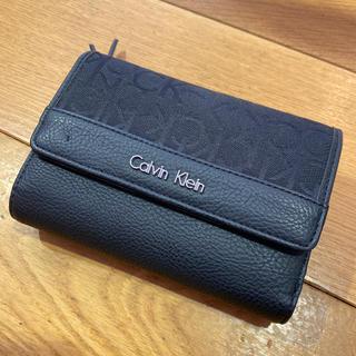 カルバンクライン(Calvin Klein)のカルバンクライン 財布 キャンバス レザー 黒系 CK ロゴ入り(財布)