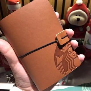 スターバックスコーヒー(Starbucks Coffee)の【新品❣️】スターバックス 海外限定品   ブラウン ノート 手帳(手帳)